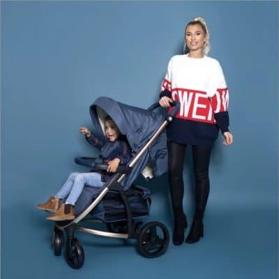 My Babiie Billie Faiers pushchair - Rose Gold & Navy