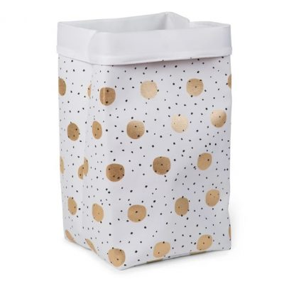 Childhome Canvas Storage Box 32 x 32 x 60 - Gold Dots