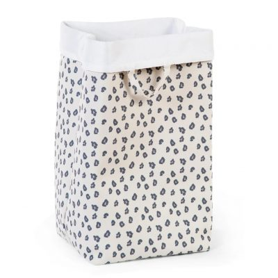 Childhome Canvas Storage Box 32 x 32 x 60 - Grey Leopard