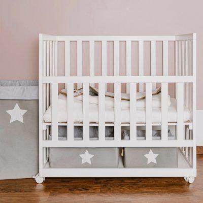 Childhome Canvas Storage Box 32 x 32 x 60 - Grey Stripes