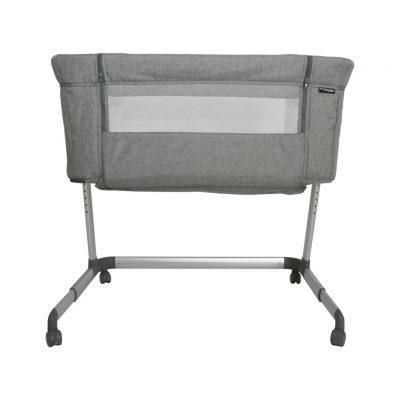 My Babiie Bedside Crib - Grey Melange