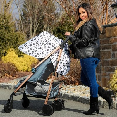 """My Babiie Nicole """"Snooki"""" Polizzi Lightweight Stroller - Leopard"""