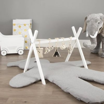 Childhome Tipi Play Gym canvas toys set of 5