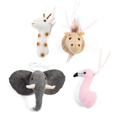 Childhome Tipi Play Gym felt animal toys set of 4