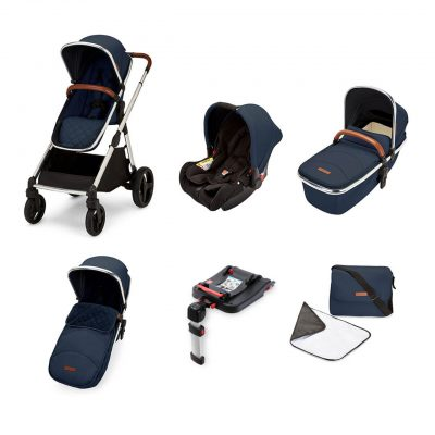 ickle-bubba-eclipse-travel-system-midnight-blue-tan-handle-1