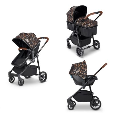 Moon 3-In-1 Black/Copper/Tan Travel System With Astral Car Seat