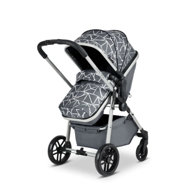 Ickle Bubba Silver/Sparkle/Black Moon 2 In 1 Pushchair