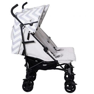 Billie Faiers Grey Chevron Double Stroller
