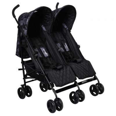 Dani Dyer Black Geometric Double Stroller