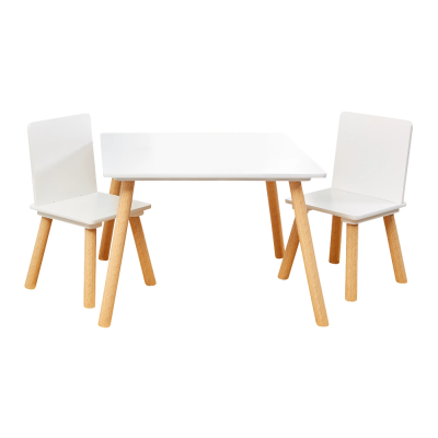 Liberty House Toys White and Pinewood Table and Chair Set