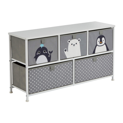 Liberty House Toys Arctic 5 Drawer Kids Storage Chest