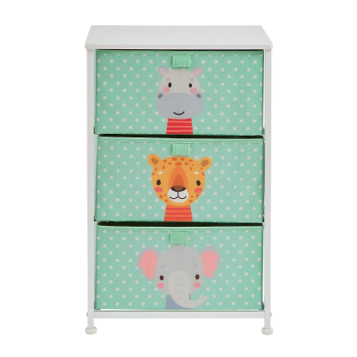 Liberty House Toys Jungle 3 Drawer Kids Storage Chest
