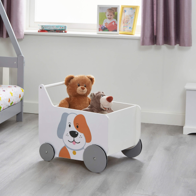 Liberty House Toys Cat and Dog Wooden Push Along Walker