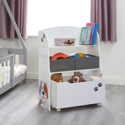Liberty House Toys Cat and Dog Storage Unit with Roll-Out Toy Box
