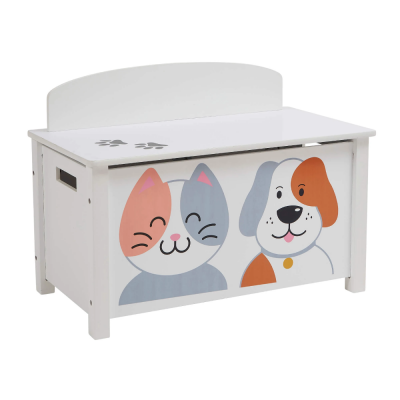 Liberty House Toys Wooden Cat and Dog Toy Box