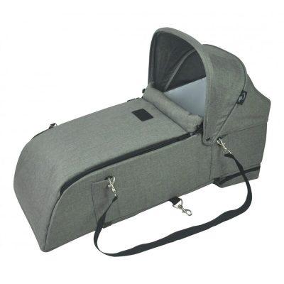 roma gemini carrycot grey