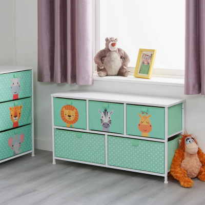 Liberty House Toys Jungle 5 Drawer Kids Storage Chest