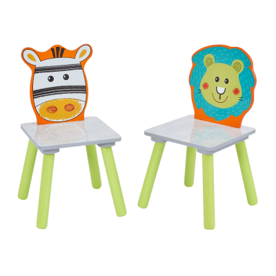 Liberty House Toys Lion and Zebra Table and Chairs